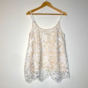Cabi Lace Sleeveless Top Size S